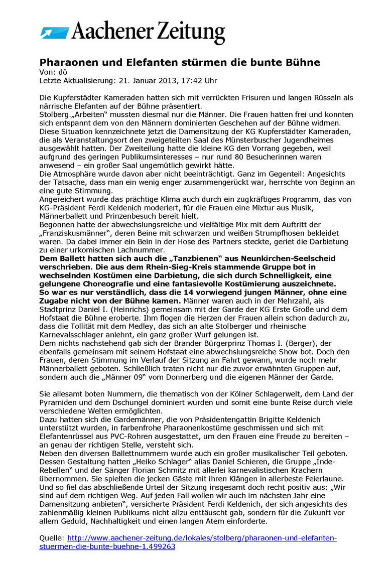 2013-01-21 Aachener Zeitung